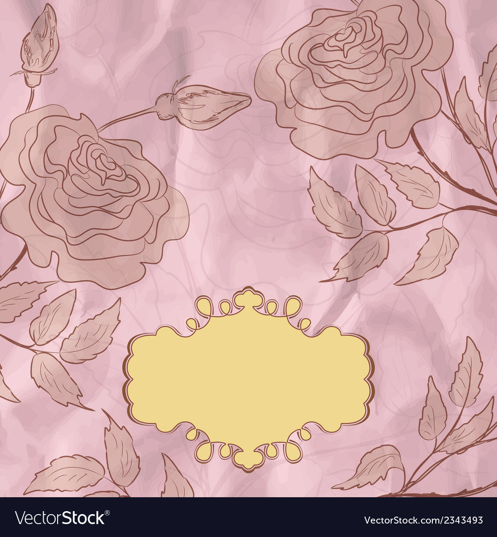 Vintage flower background eps 8 vector | Price: 1 Credit (USD $1)