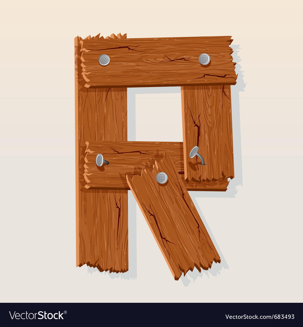 Wooden letter r vector | Price: 1 Credit (USD $1)