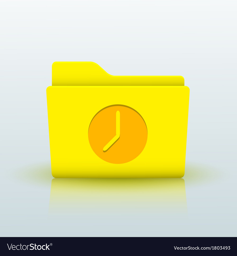 Yellow folder on blue background eps10 vector | Price: 1 Credit (USD $1)