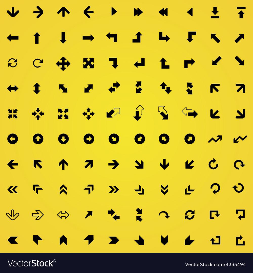 100 arrows icons vector | Price: 1 Credit (USD $1)