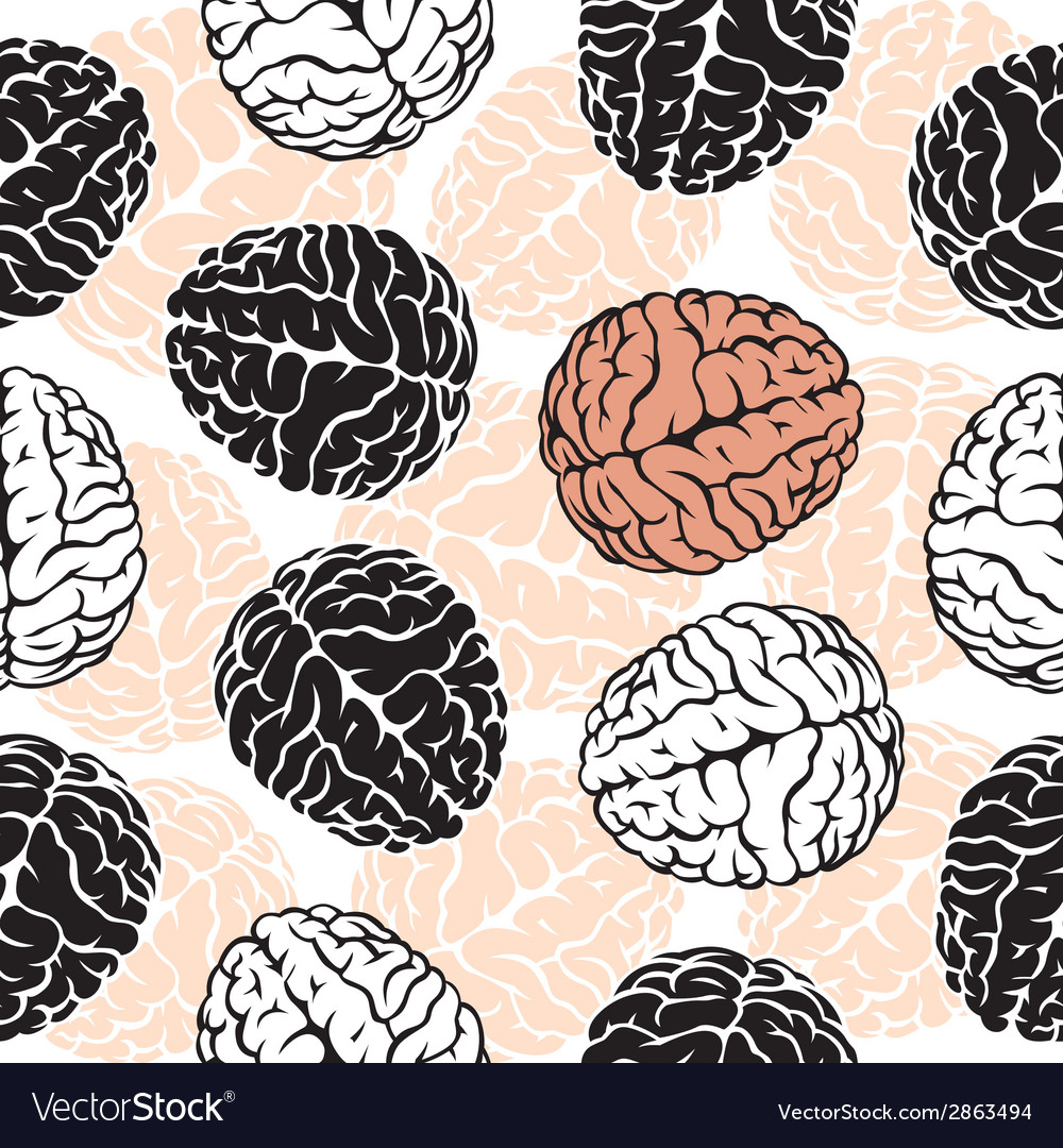 Brain seamless background  template for your vector   Price: 1 Credit (USD $1)