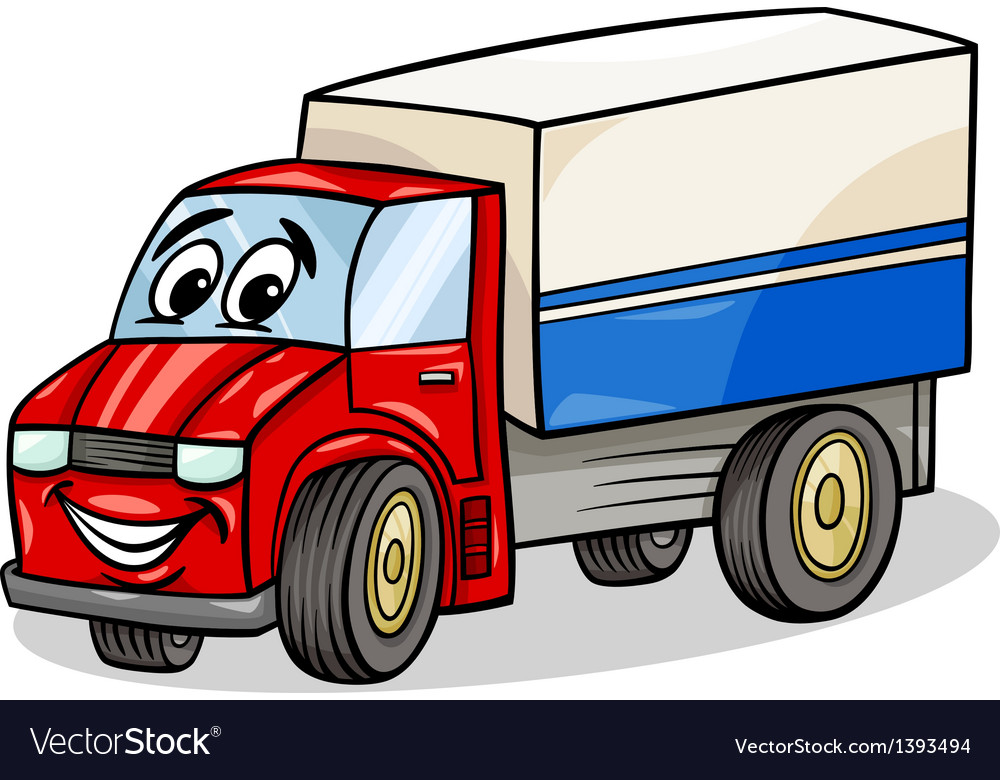 Funny truck car cartoon vector | Price: 1 Credit (USD $1)