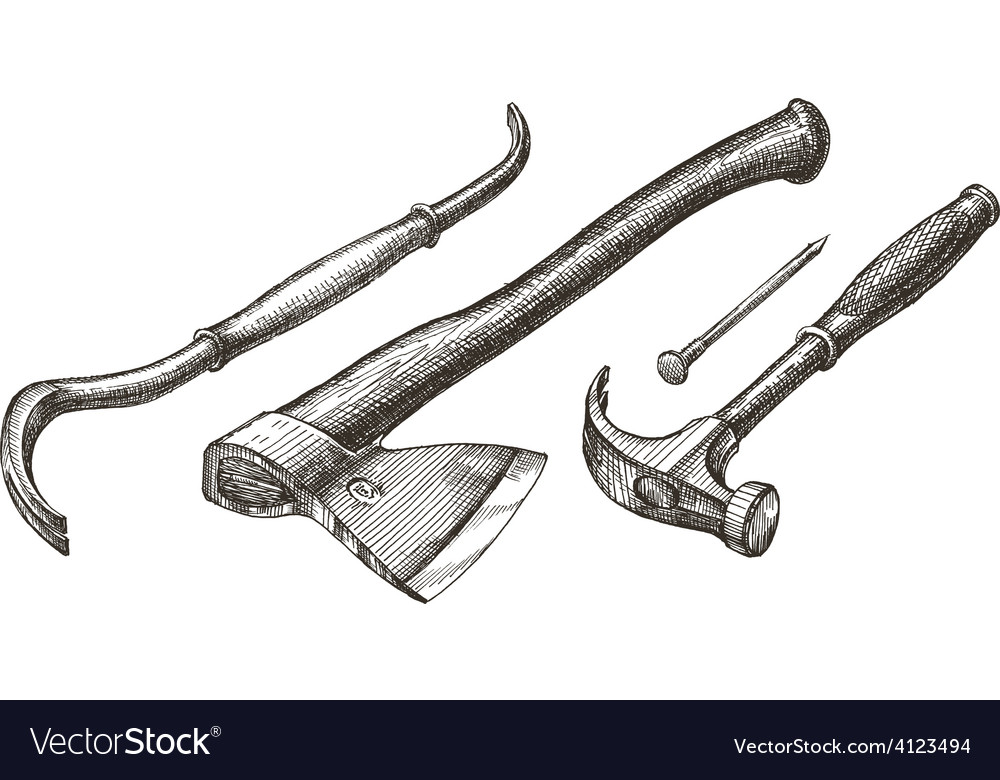 Tools logo design template hammer and nail vector | Price: 3 Credit (USD $3)