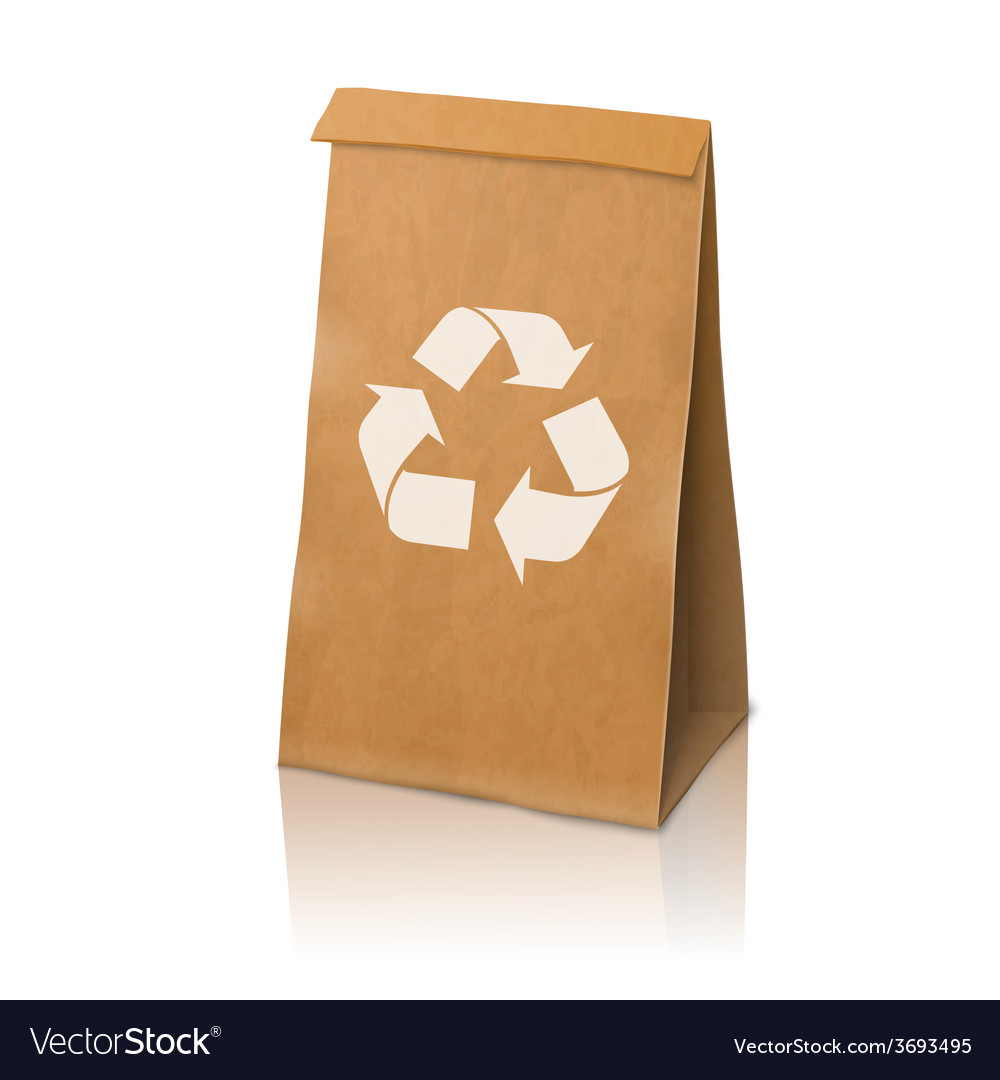 Blank craft realistic paper packaging bag vector | Price: 3 Credit (USD $3)