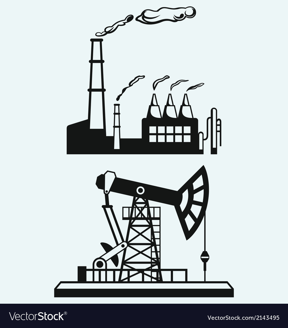 Concept of oil industry and factory vector | Price: 1 Credit (USD $1)