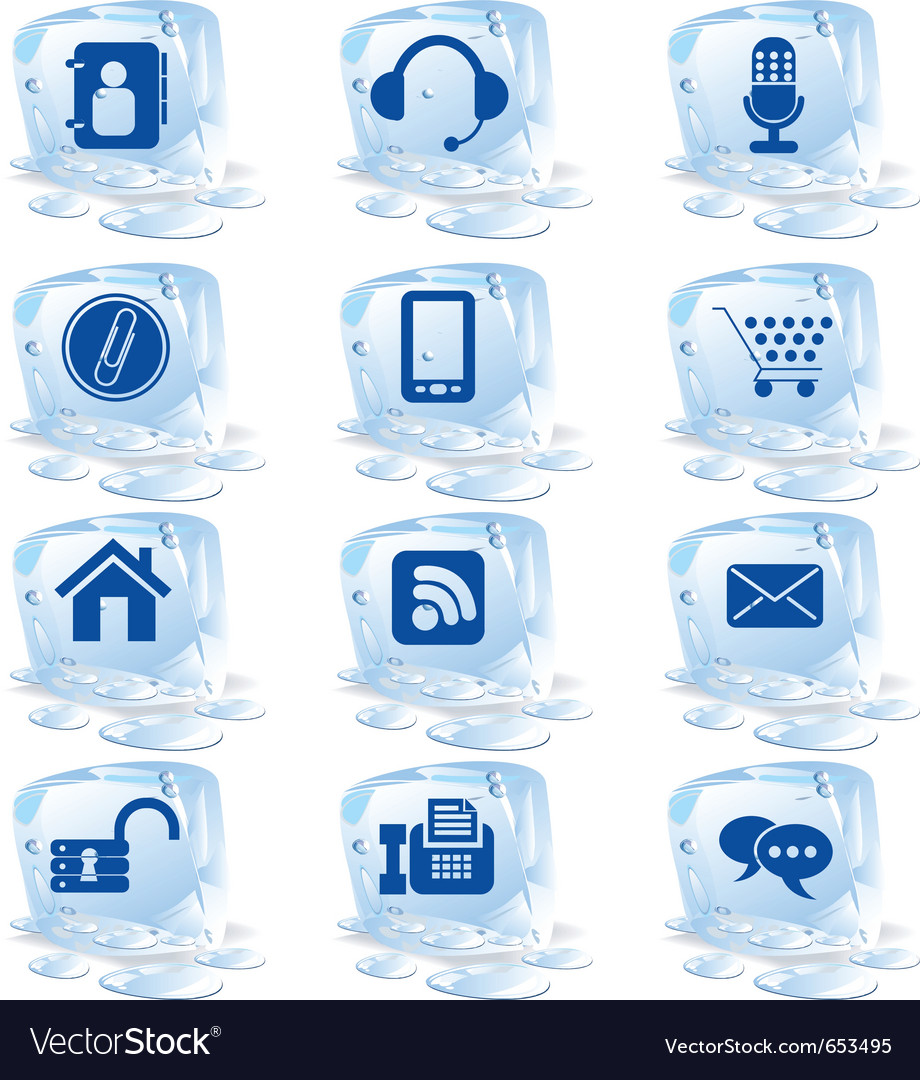Ice icons vector | Price: 1 Credit (USD $1)