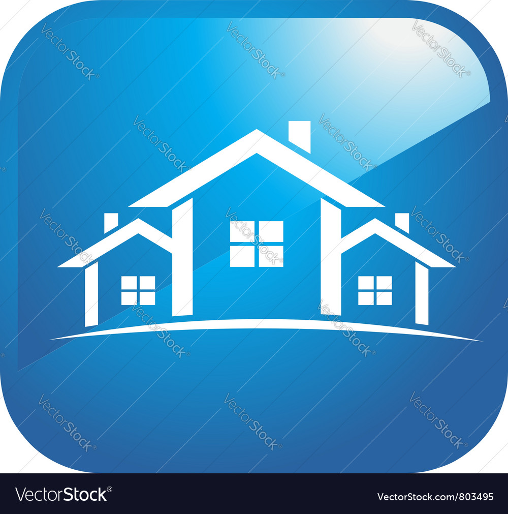 Icon set of houses vector | Price: 1 Credit (USD $1)