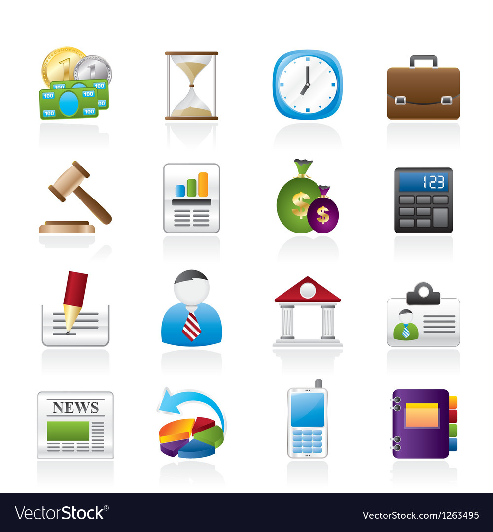 Office and finance icons vector | Price: 3 Credit (USD $3)