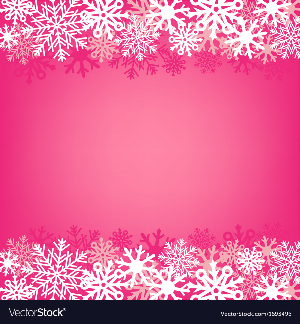 Pink snow background vector | Price: 1 Credit (USD $1)