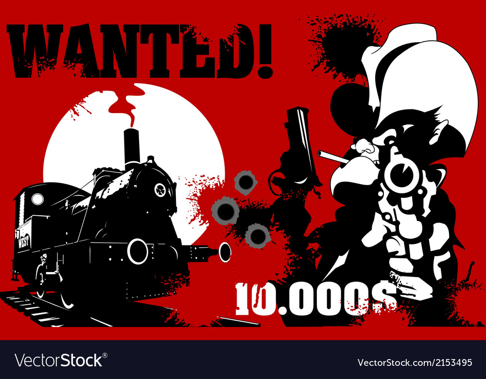 Sheriff wanted poster vector | Price: 1 Credit (USD $1)