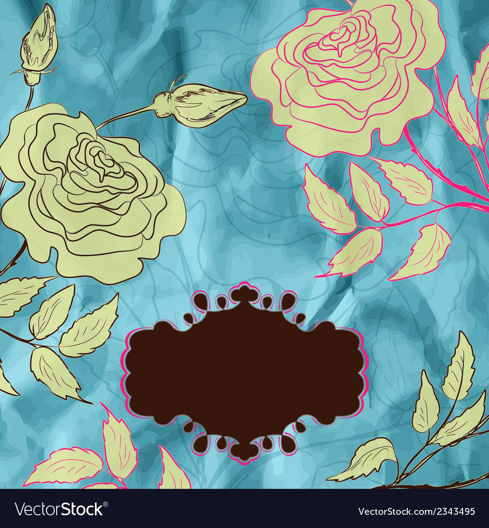 Vintage roses  eps 8 vector | Price: 1 Credit (USD $1)