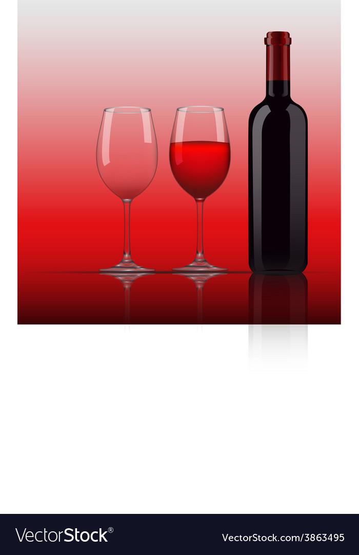 Wine glass bottle vector | Price: 1 Credit (USD $1)