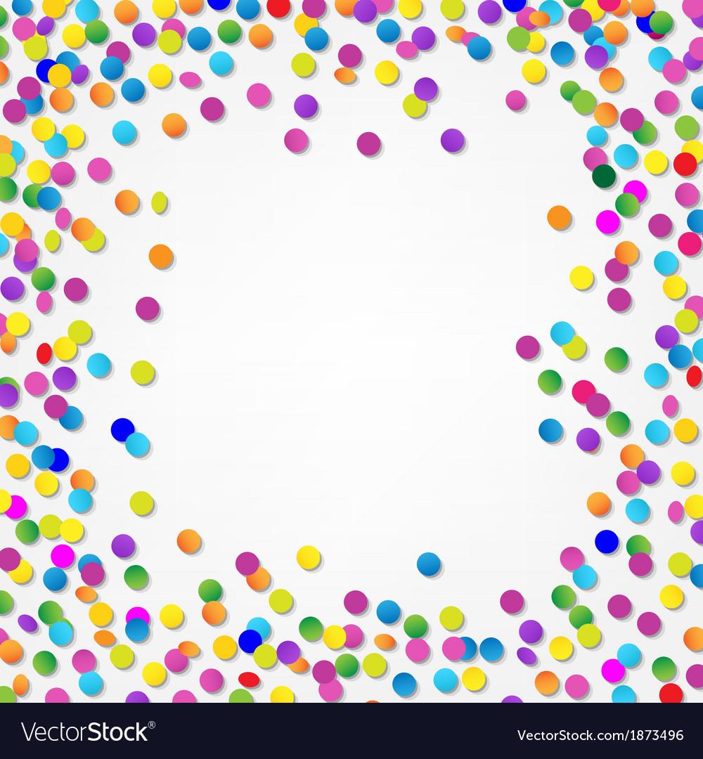 Colorful confetti border vector | Price: 1 Credit (USD $1)