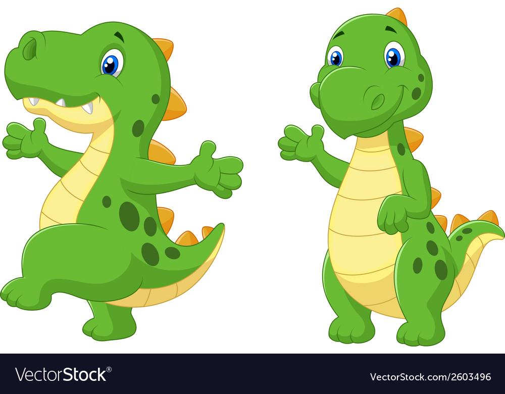 Cute dinosaur cartoon vector | Price: 1 Credit (USD $1)