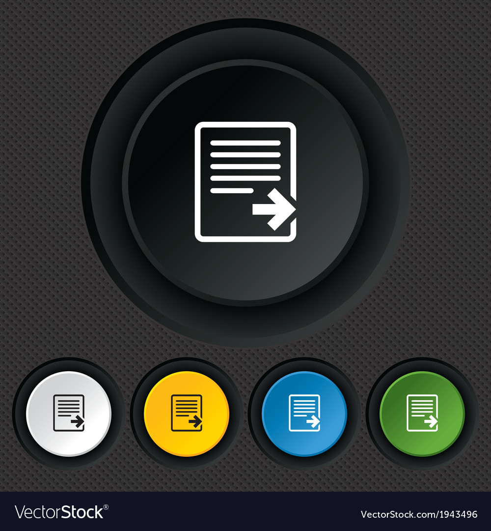 Export file icon file document symbol vector | Price: 1 Credit (USD $1)