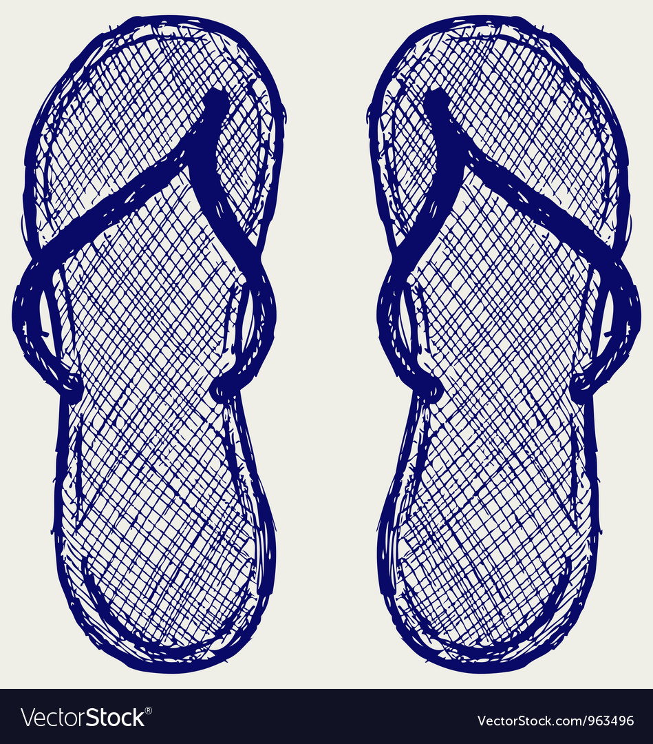 Flip flop vector | Price: 1 Credit (USD $1)