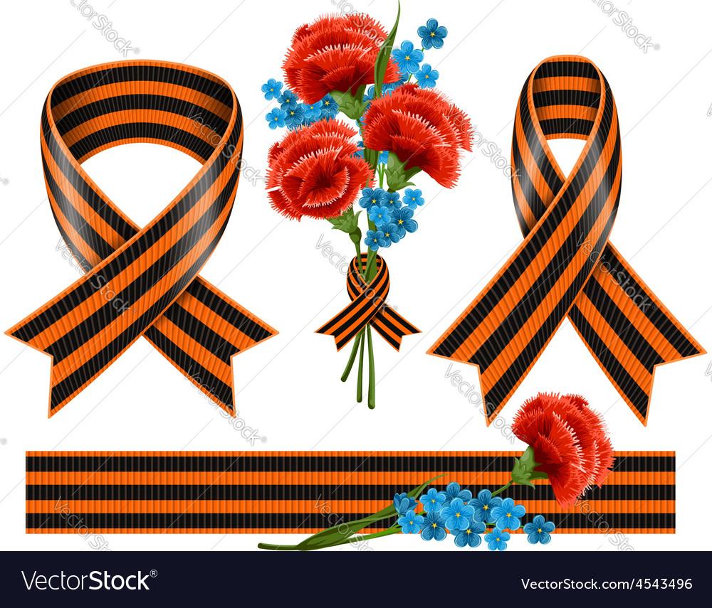 George ribbons set vector | Price: 1 Credit (USD $1)