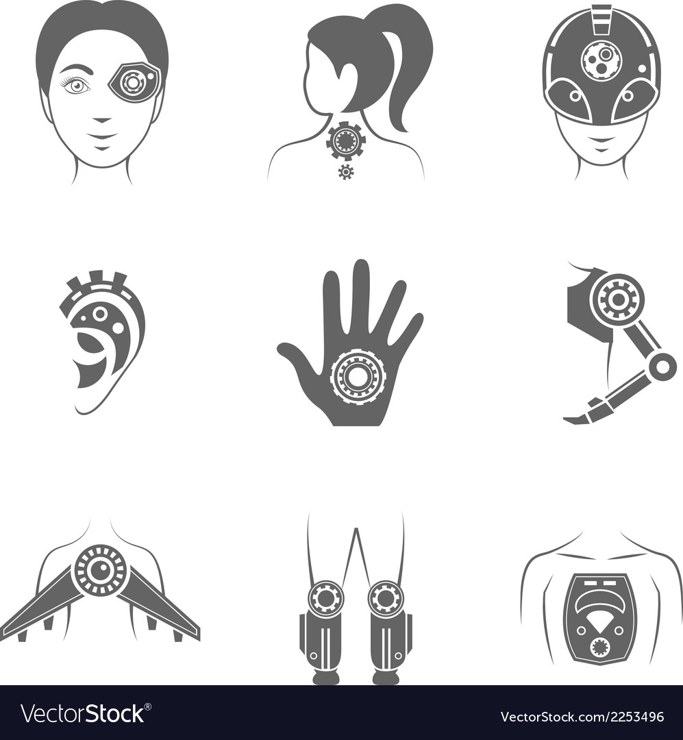 Human robot icon vector | Price: 1 Credit (USD $1)