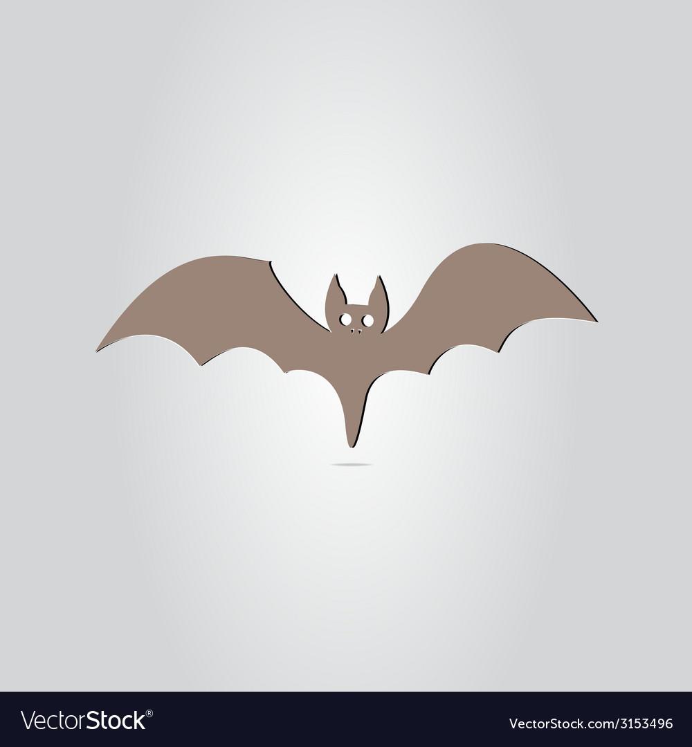 Icon bat happy halloween holiday vector   Price: 1 Credit (USD $1)