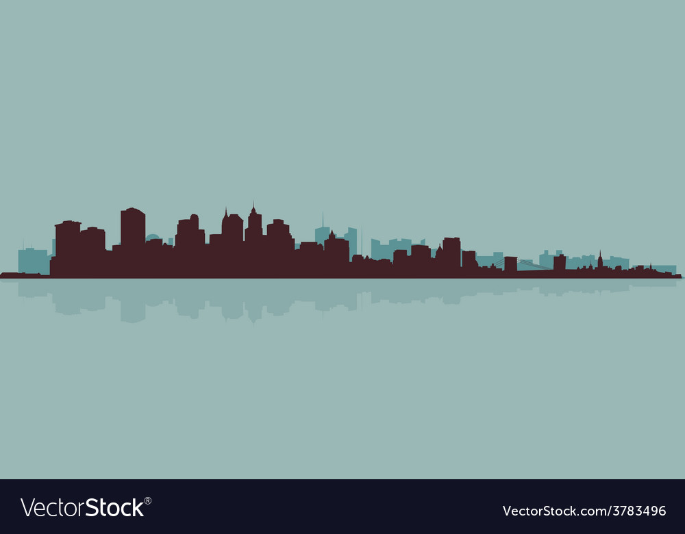 The original outline of the big city vector | Price: 1 Credit (USD $1)