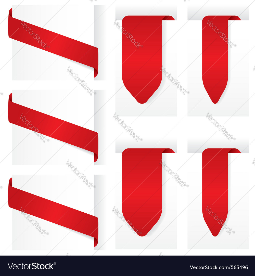 Ribbon sign banners vector | Price: 1 Credit (USD $1)