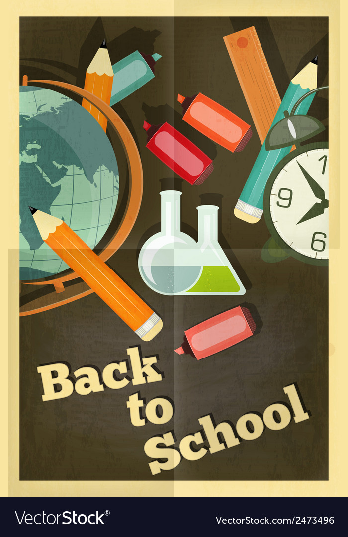 School poster chalkboard vector | Price: 1 Credit (USD $1)
