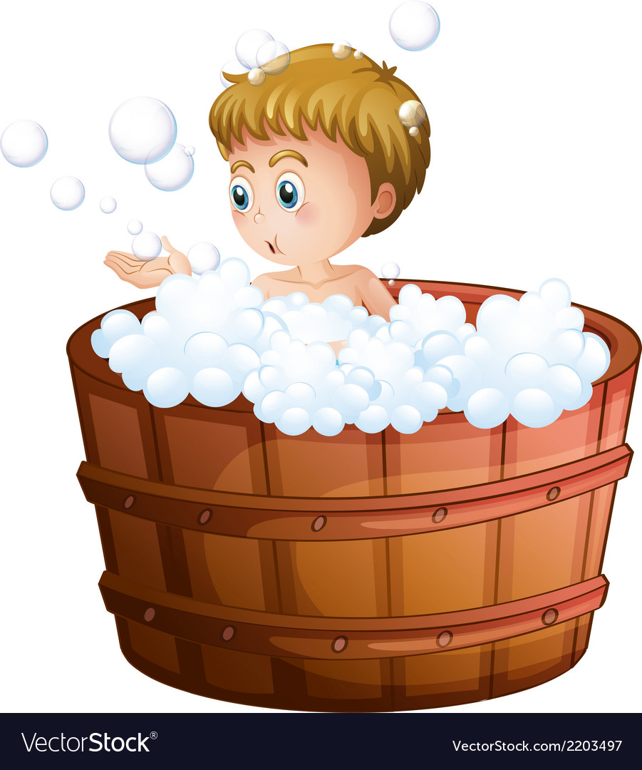 A boy playing with the bubbles inside the big vector   Price: 1 Credit (USD $1)