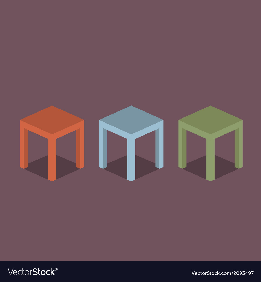 Chairs flat design vector | Price: 1 Credit (USD $1)