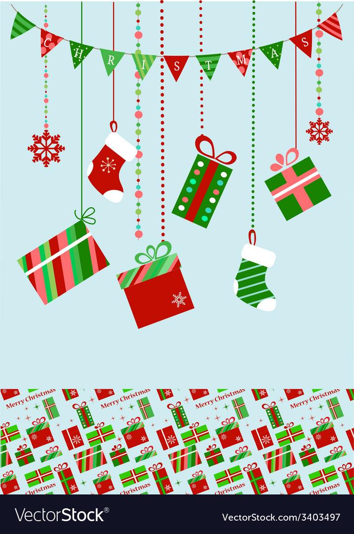 Christmas socks and presents vector