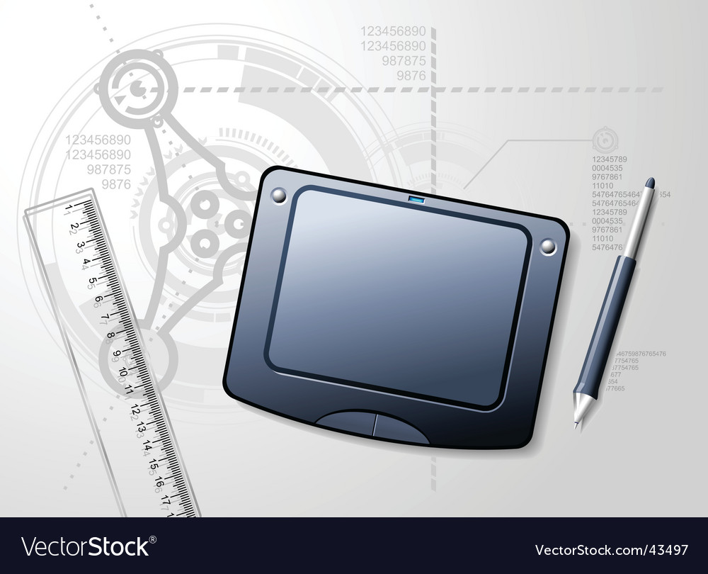 Designer's desktop vector | Price: 3 Credit (USD $3)