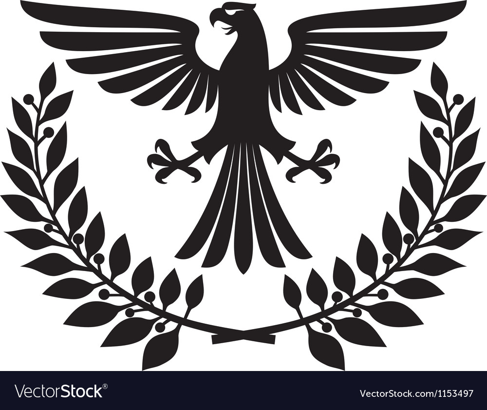 Eagle coat of arms vector