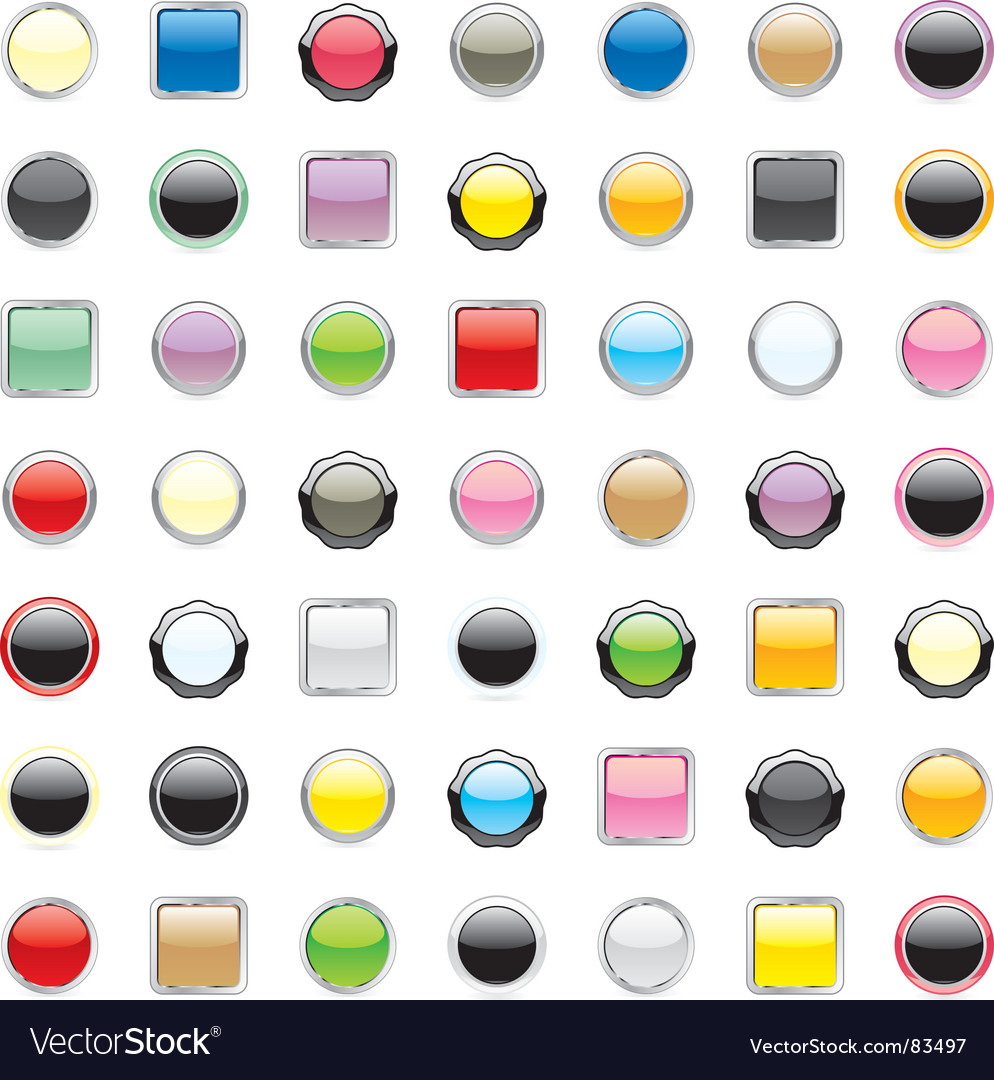 Internet web buttons vector | Price: 1 Credit (USD $1)