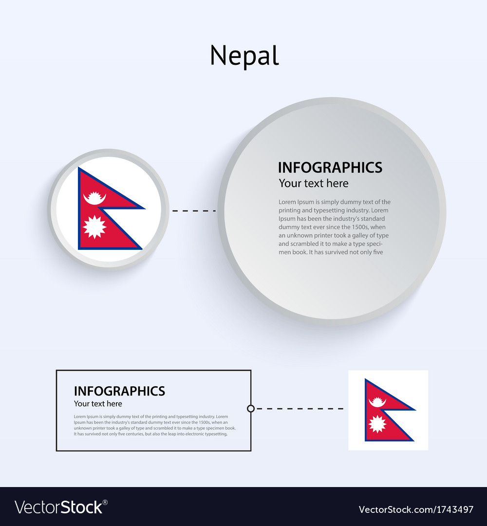 Nepal country set of banners vector | Price: 1 Credit (USD $1)