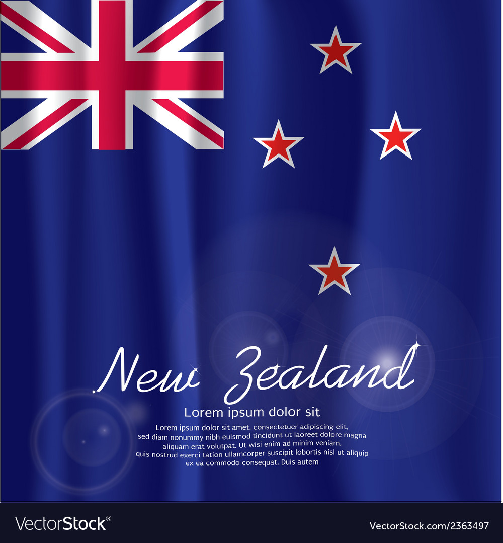 New zealand flag curtain vector | Price: 1 Credit (USD $1)