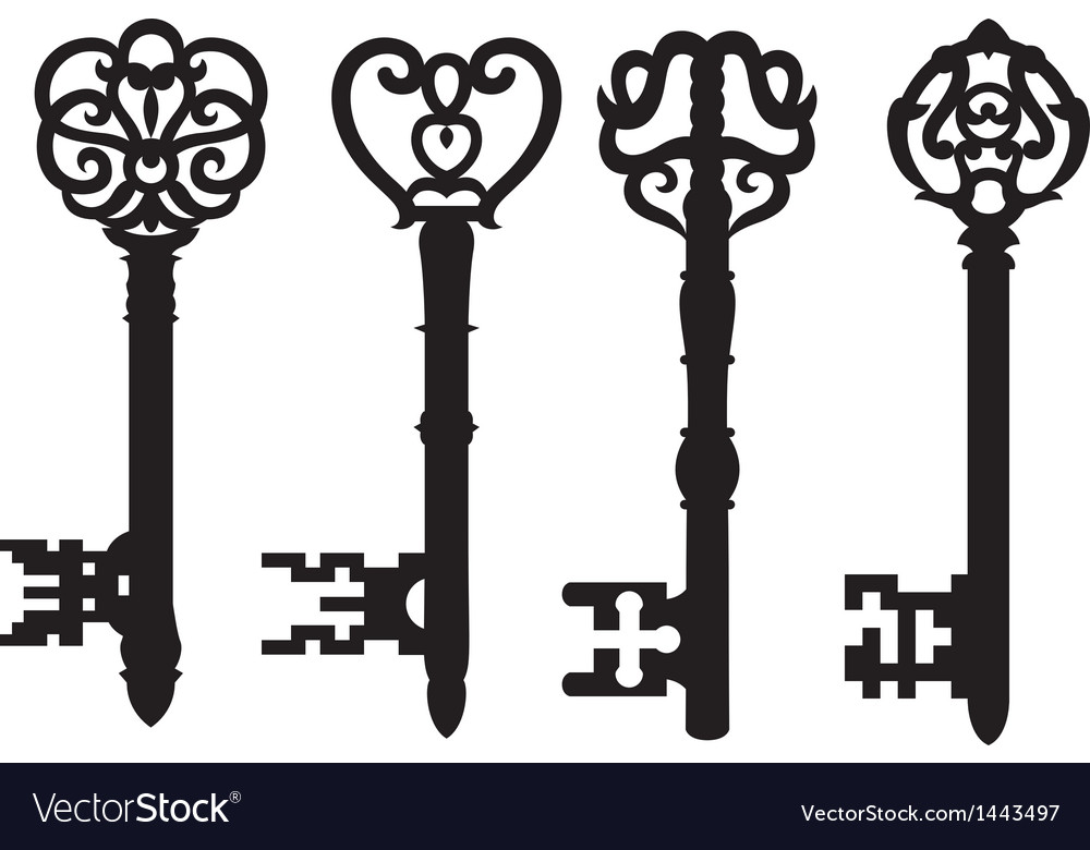 Old key collection vector | Price: 1 Credit (USD $1)