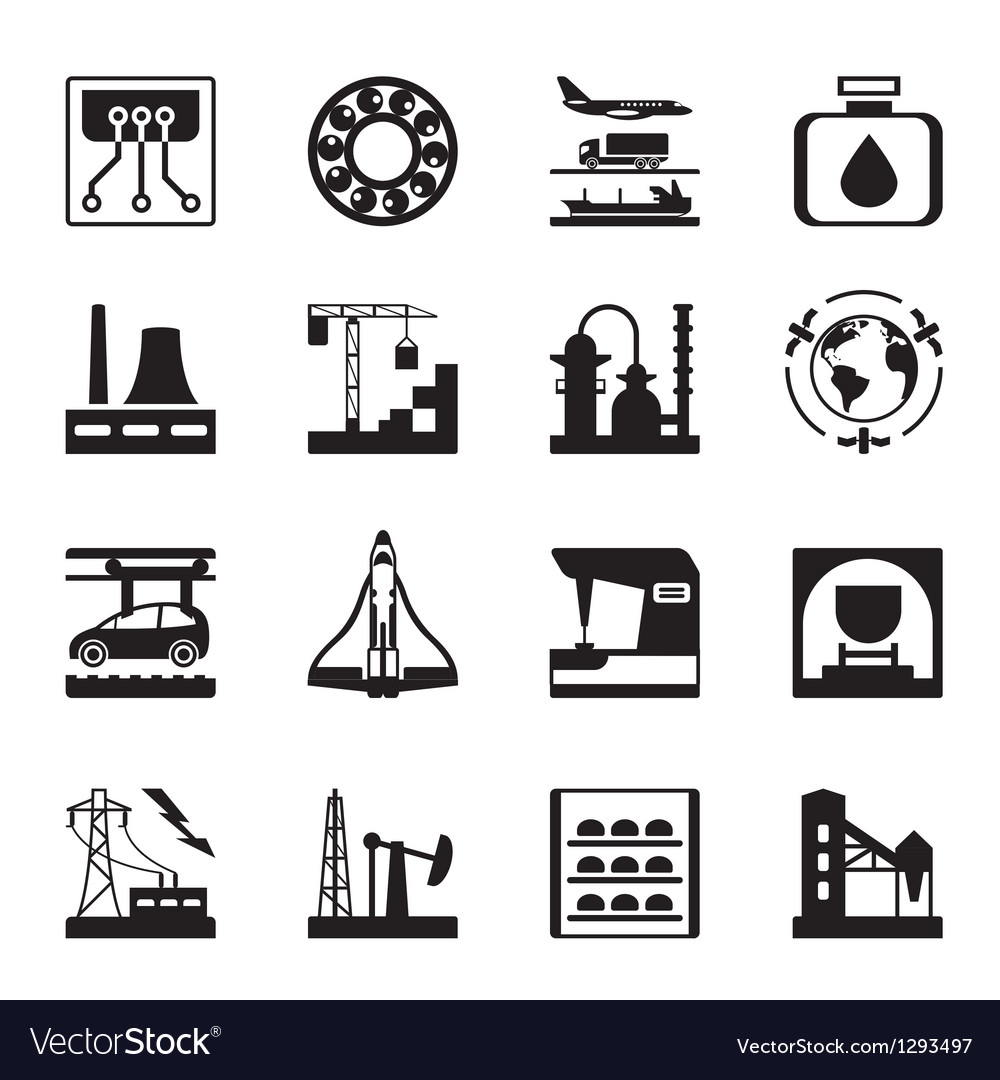 Plants for light and heavy industry vector | Price: 1 Credit (USD $1)