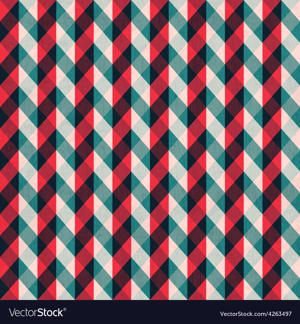 Red tissue seamless pattern with blue stripes vector | Price: 1 Credit (USD $1)
