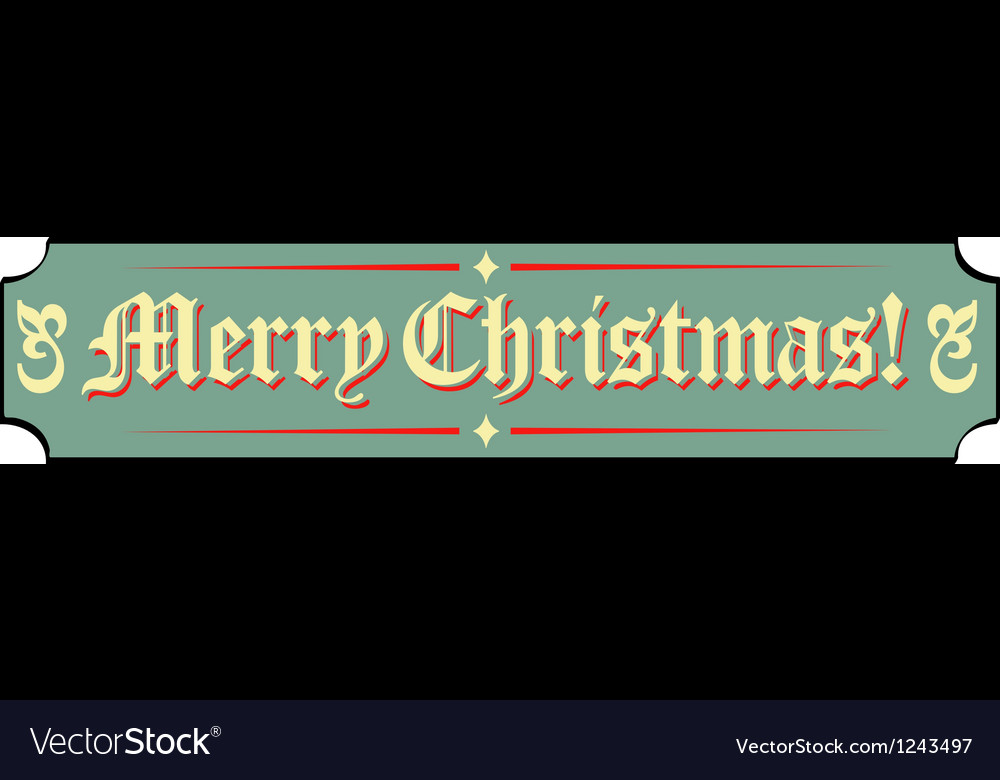 Santa workshop banner signs vector | Price: 1 Credit (USD $1)