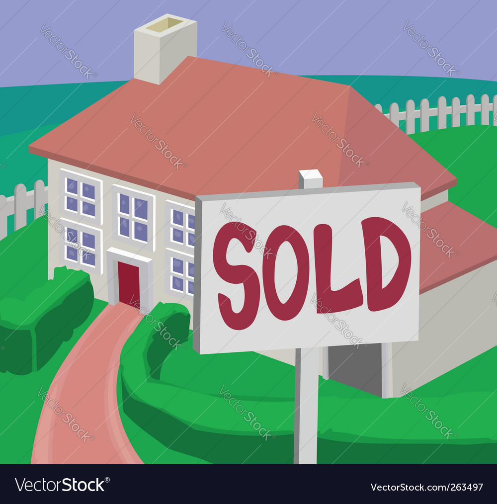 Sold house vector | Price: 1 Credit (USD $1)