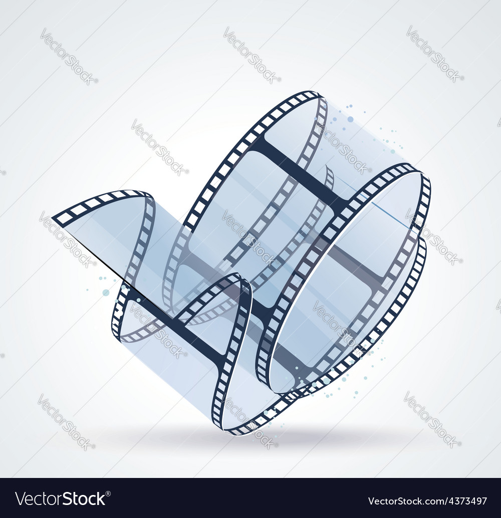 Twisted film for photo or video recording on white vector   Price: 1 Credit (USD $1)