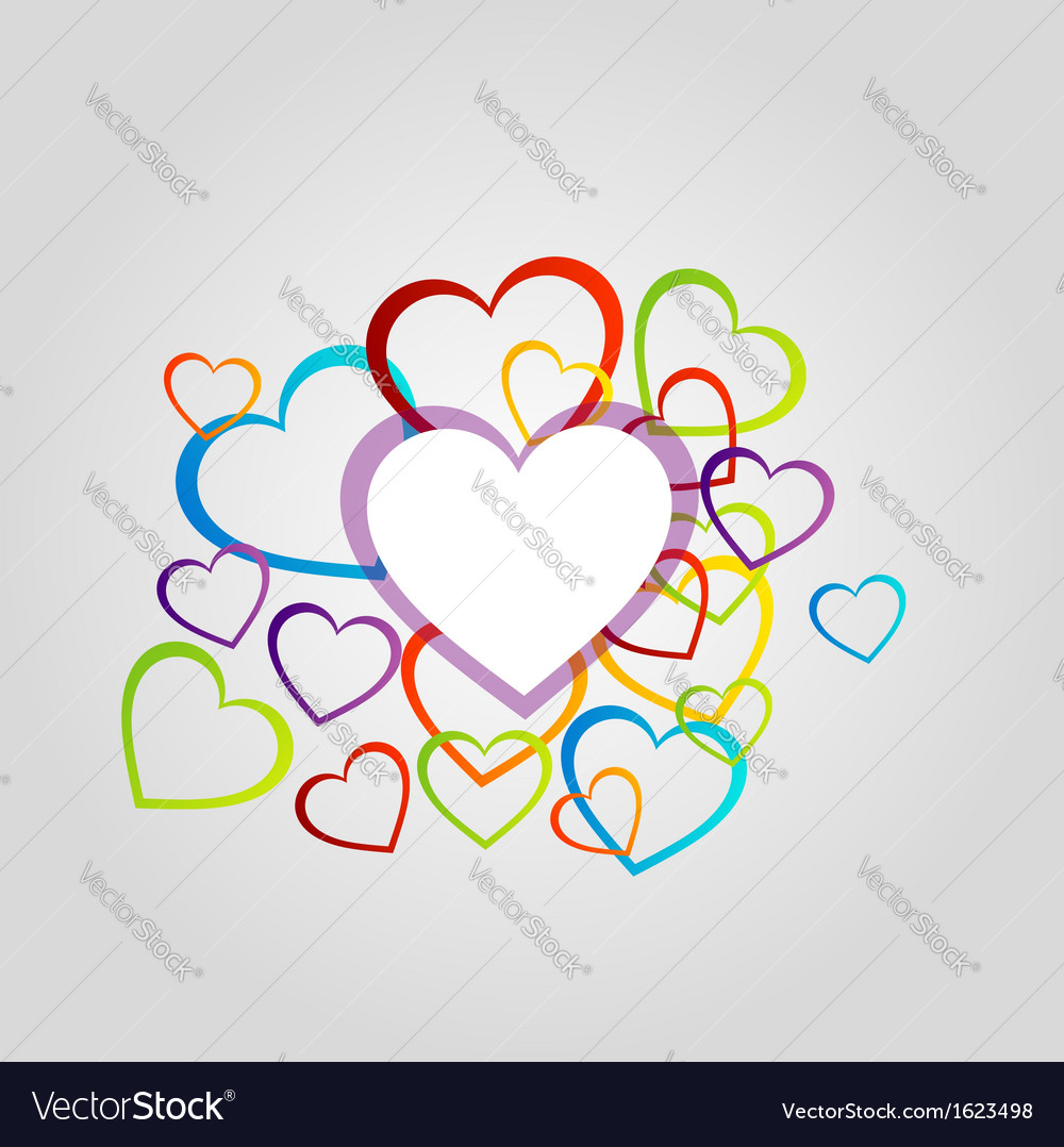 Background with colorful hearts vector | Price: 1 Credit (USD $1)