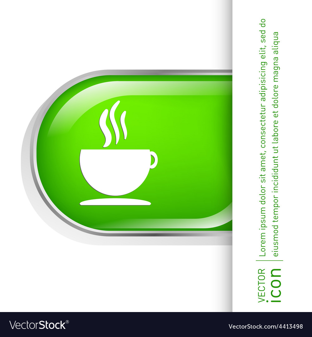 Cup of hot drink icon cafe or diner vector | Price: 1 Credit (USD $1)