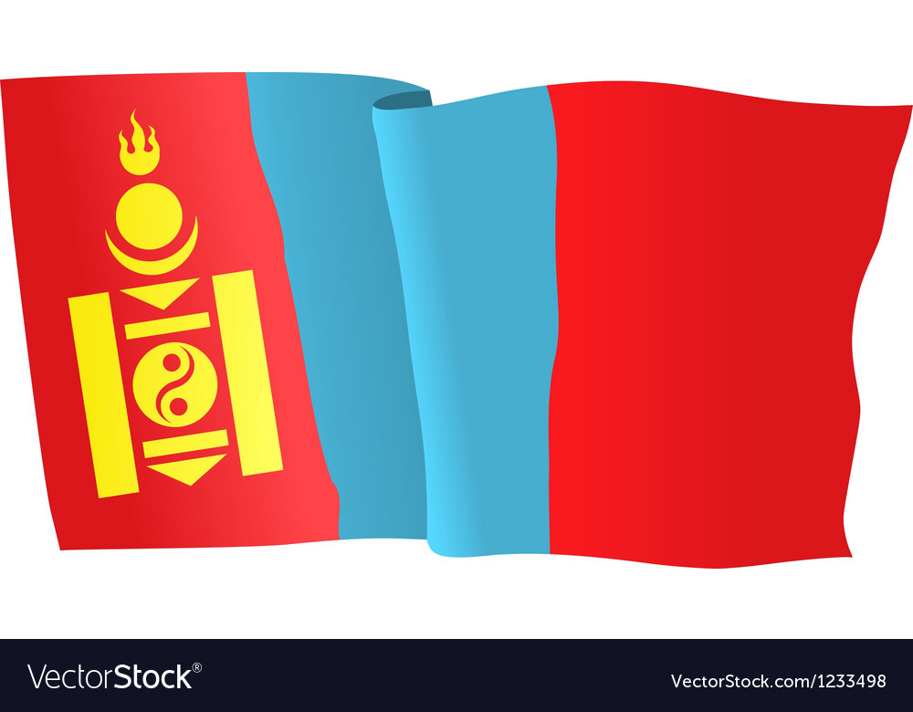 Flag of mongolia vector | Price: 1 Credit (USD $1)