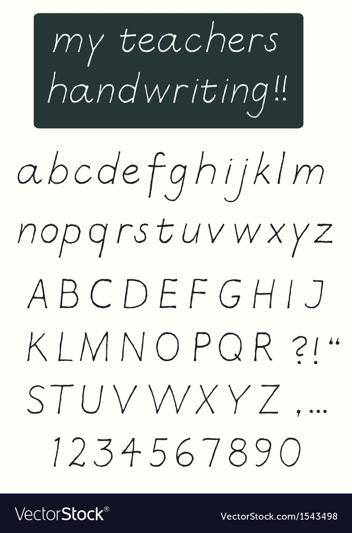 Handwriting alphabet vector | Price: 1 Credit (USD $1)