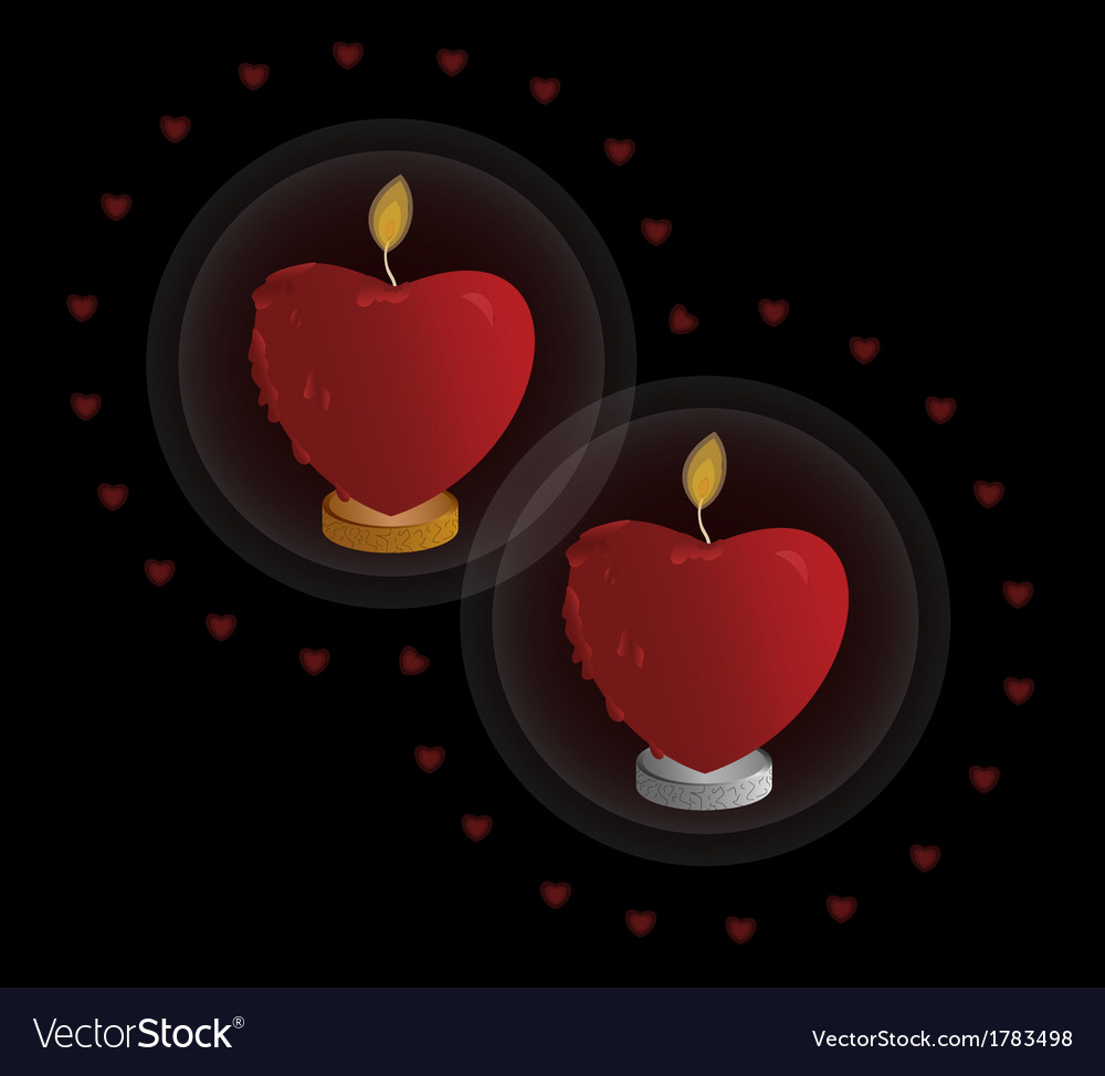 Heart shaped candle vector | Price: 1 Credit (USD $1)