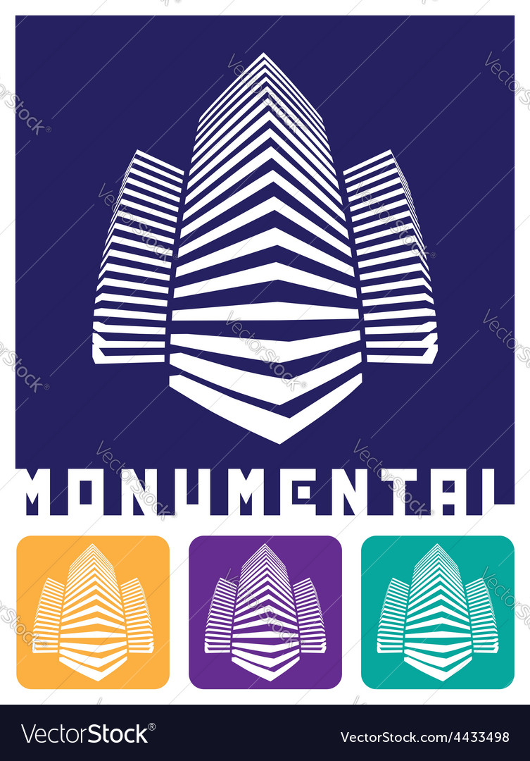Monumental construction vector | Price: 1 Credit (USD $1)