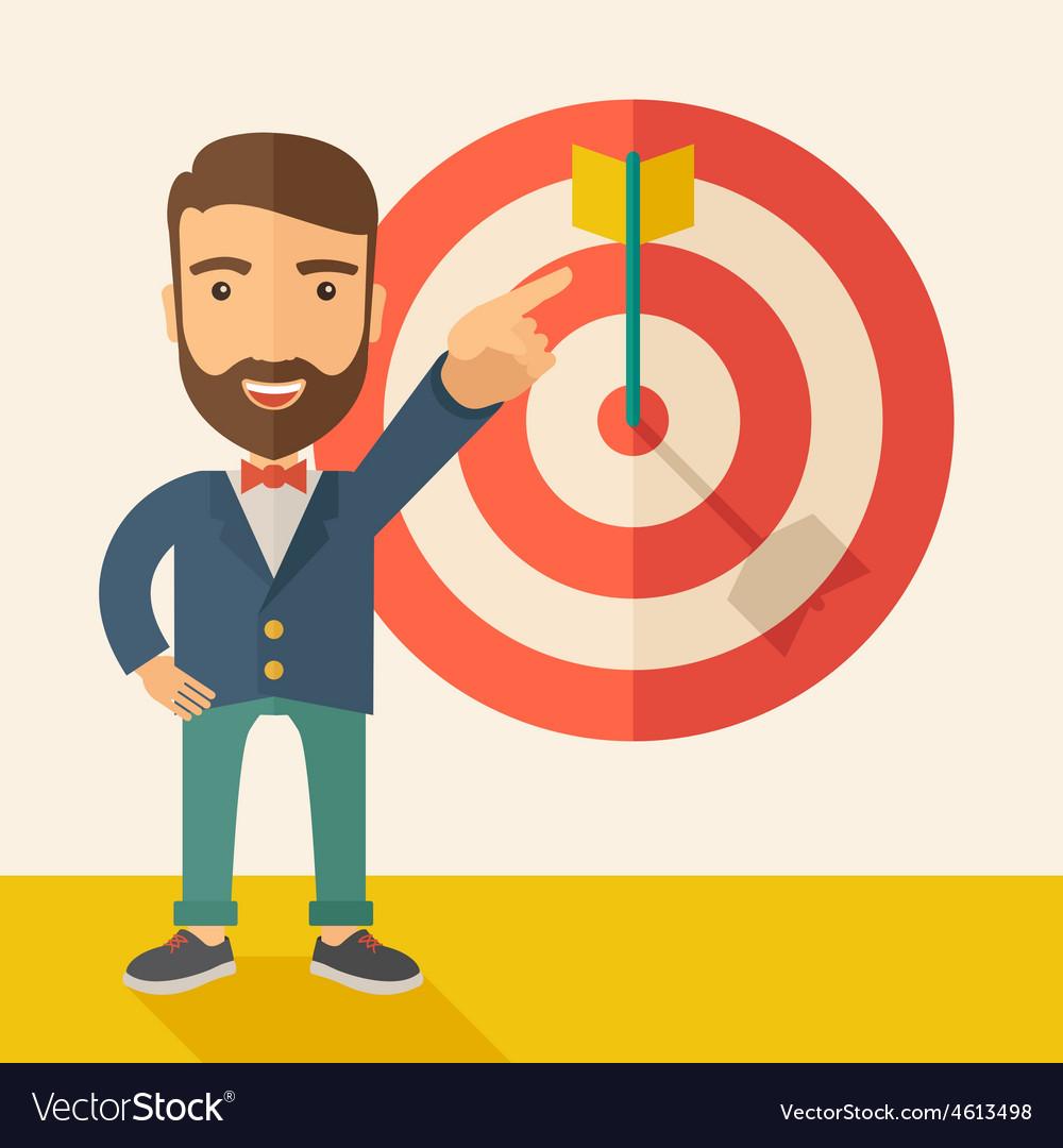 Salesman hit the sales target vector | Price: 1 Credit (USD $1)
