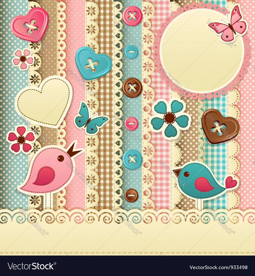 Scrapbook template vector | Price: 3 Credit (USD $3)