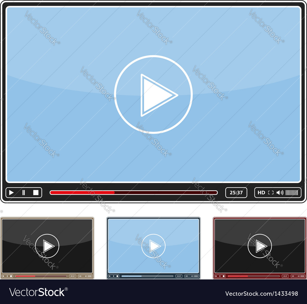Simple video player vector | Price: 1 Credit (USD $1)
