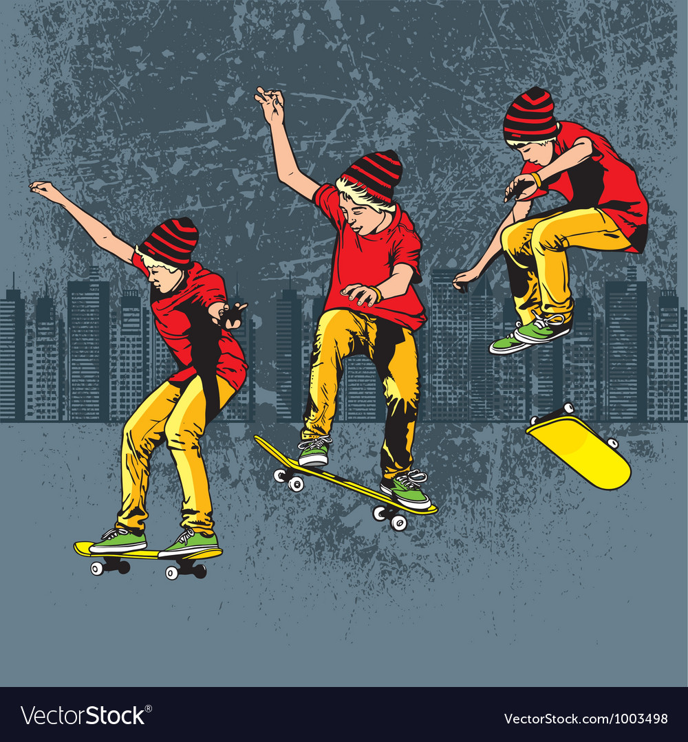 Skateboarding vector | Price: 3 Credit (USD $3)